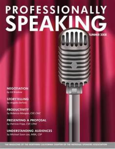 Professionally Speaking Summer 2008 Cover