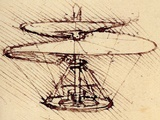 Da Vinci Helicopter Sketch