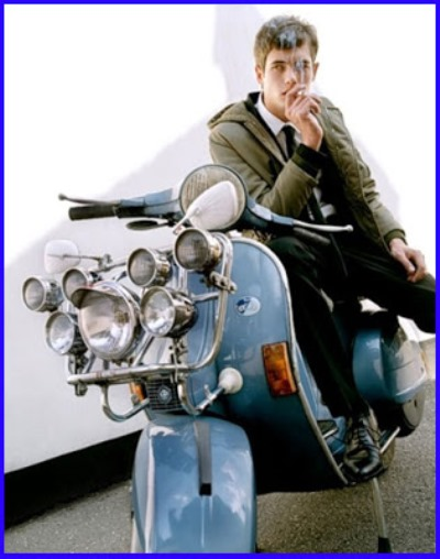 Mod on his Vespa