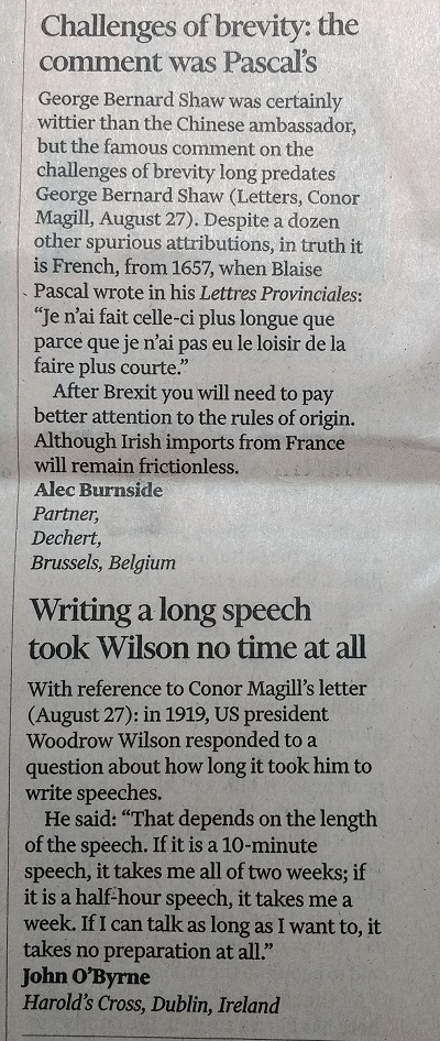 Financial Times letters